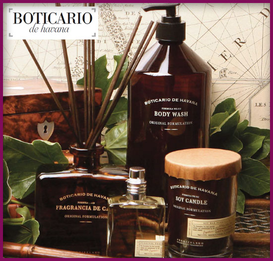 Boticario de Havana soaps and candles