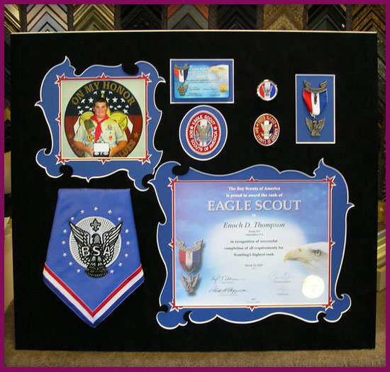 Framed Eagle Scout Memorabilia